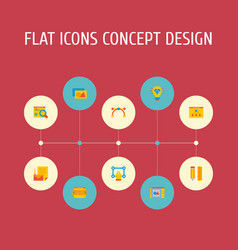 Set of wd icons flat style symbols with website vector