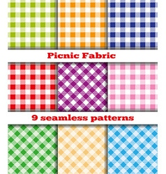 Set tissue samples for a picnic vector