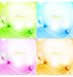 Shiny abstract background set vector image