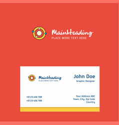 solar system logo design with business card vector image