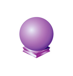 sphere purple round ball orb geometric shape vector image