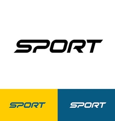 Sport word text logo vector