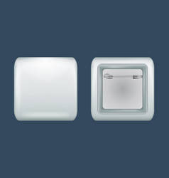 Square badge mockup realistic style vector