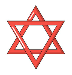 star of david judaism icon cartoon style vector image