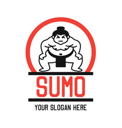 Sumo logo with text space for your slogan vector