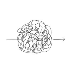 Symbol of complicated way chaos pass way arrow vector