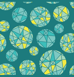 teal blue green geometric mosaic circles vector image