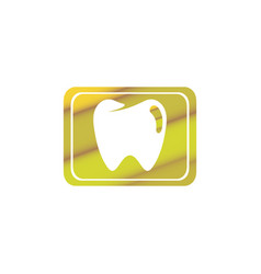 teeth care symbol in rectangle shape vector image