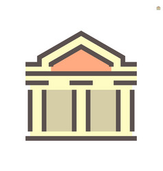 theater building icon design on white 48x48 vector image
