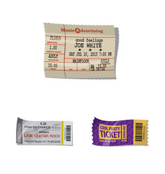 Ticket and admission sign vector