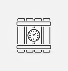 time bomb outline icon timebomb concept vector image