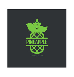 two tone assymmetric graphic pineapple logo vector image