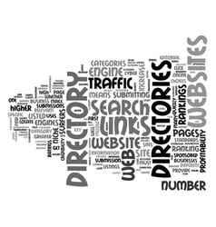 Web directories increase traffic and vector
