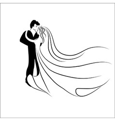 Wedding logotype Man and woman vector image