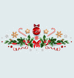 winter festive decorations vector image