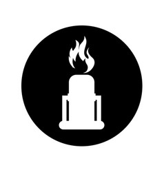 chimney with flame isolated icon vector image