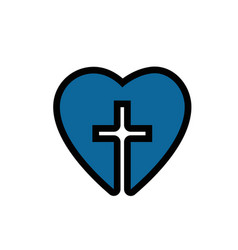 christian cross symbol icon vector image vector image