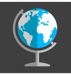 Earth globe flat icon vector image vector image