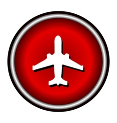plane red circle modern web icon vector image vector image