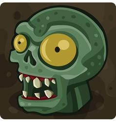 Symbol 8 Green zombie vector image