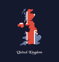 united kingdom map united kingdom map vector image
