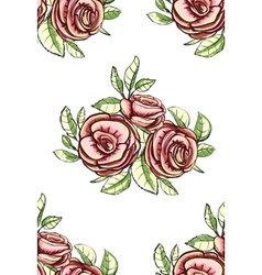 Vintage Roses Seamless Pattern Background vector image vector image