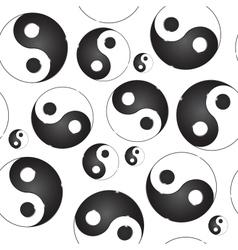 Yin yang symbol seamless pattern vector image vector image