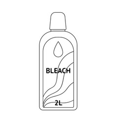 bottle of bleach dry cleaning single icon in vector image