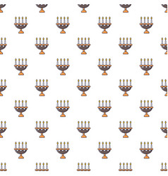 candlelight candlestick pattern seamless vector image vector image