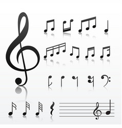 collection of music note symbols vector image
