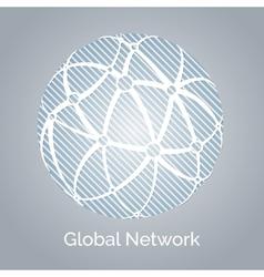 Global network vector image vector image