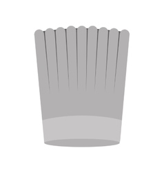 Gray scale silhouette of chefs hat striped vector