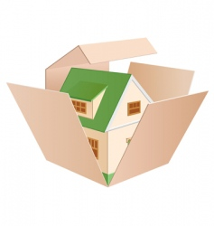 house in a box vector image