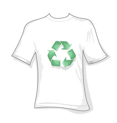 recycle t-shirt vector image vector image