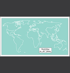 retro world map vector image