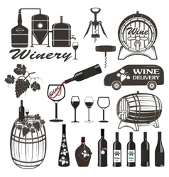 Set of wine signs badges vector image vector image