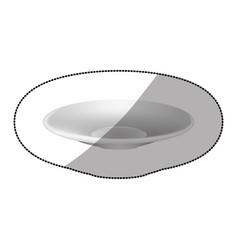 sticker white plate icon vector image