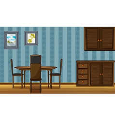 A wooden furniture vector image vector image