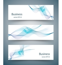 Abstract business horizontal banners vector image vector image