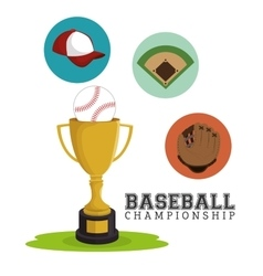 baseball club sport label trophy vector image