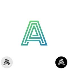 Letter A linear maze style logo vector image