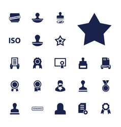 22 certificate icons vector