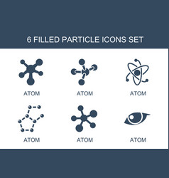 6 particle icons vector