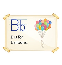 A letter B for balloons vector