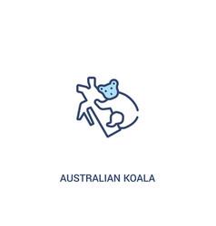 Australian koala concept 2 colored icon simple vector