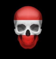 Austrian flag skull vector