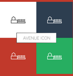 Avenue icon white background vector