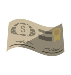 Bank check paper isolated icon vector