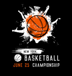 Basketball championship sport league flyer vector