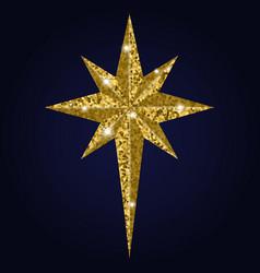 bethlehem christmas golden star isolated on white vector image